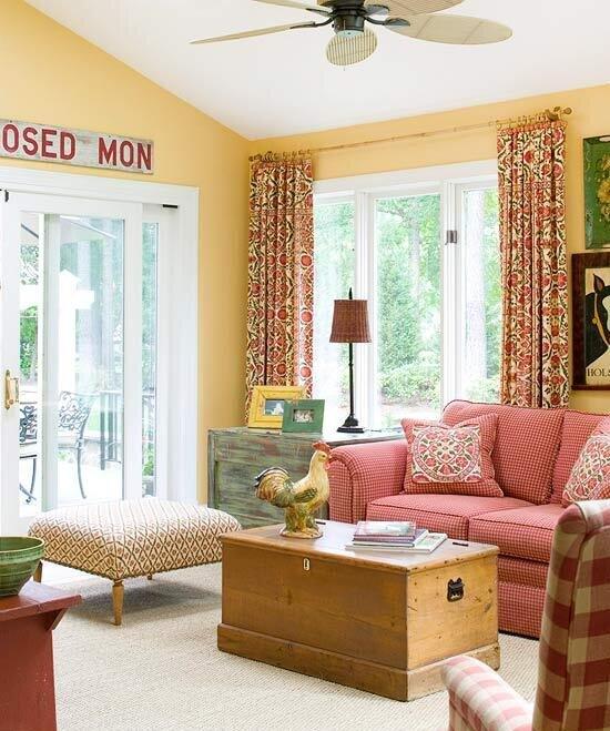 ev dekorasyonunda kırmızı rengin kullanımı
