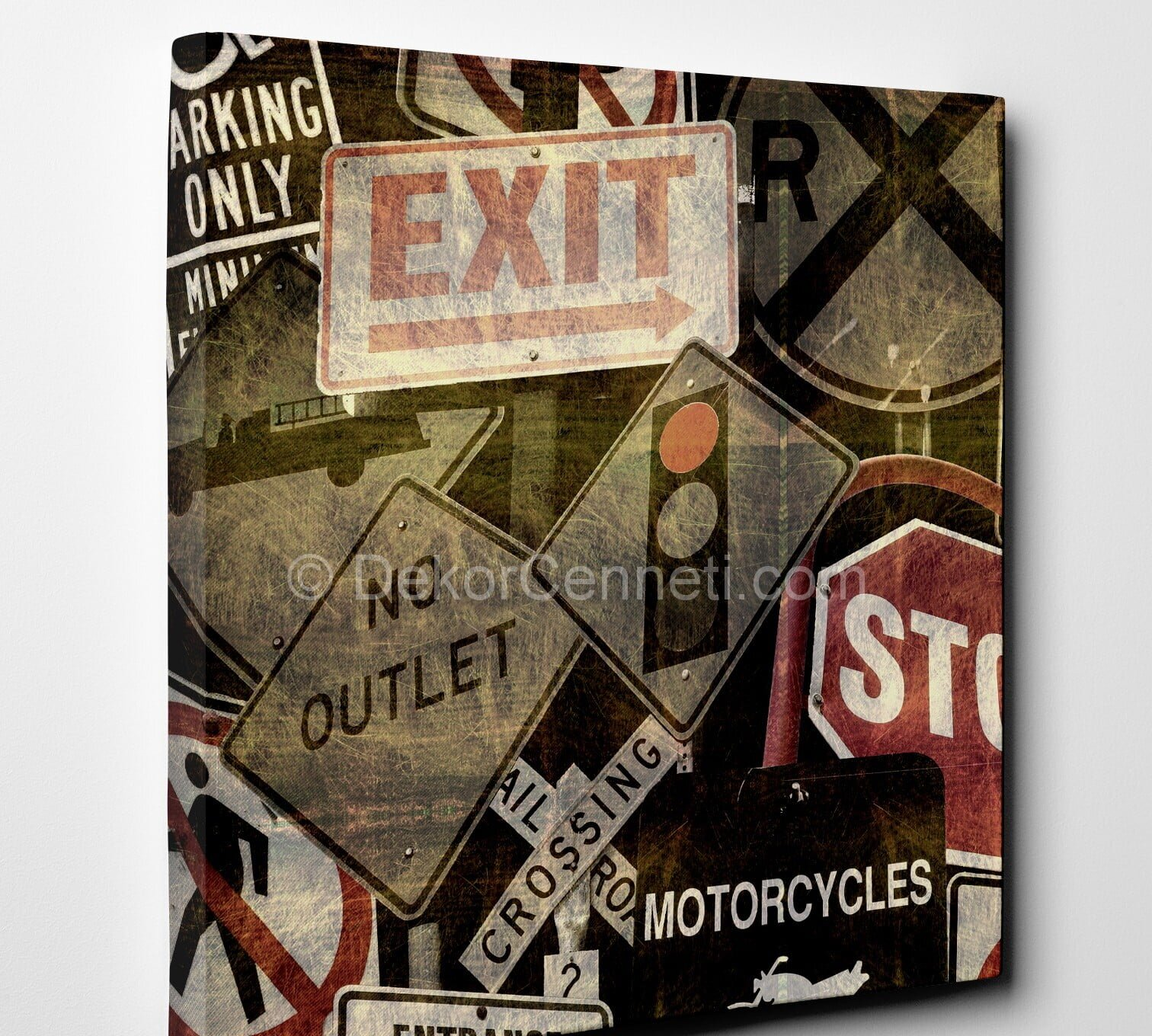 exit-vintage-canvas-tablo