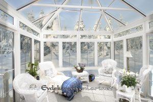 Beyaz Kış Bahçesi Modeli
