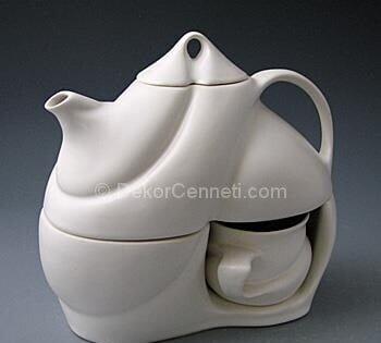 farklı porselen demlik