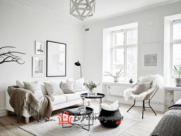 ferah iskandinav tarzi ev dekorasyonlari