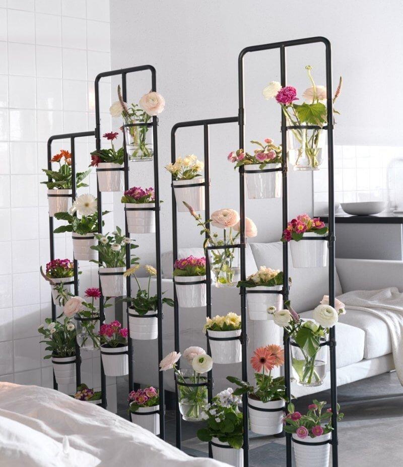 Ferforje Çiçeklik Modelleri İle Yapabileceğiniz 30 Harika Dekorasyon