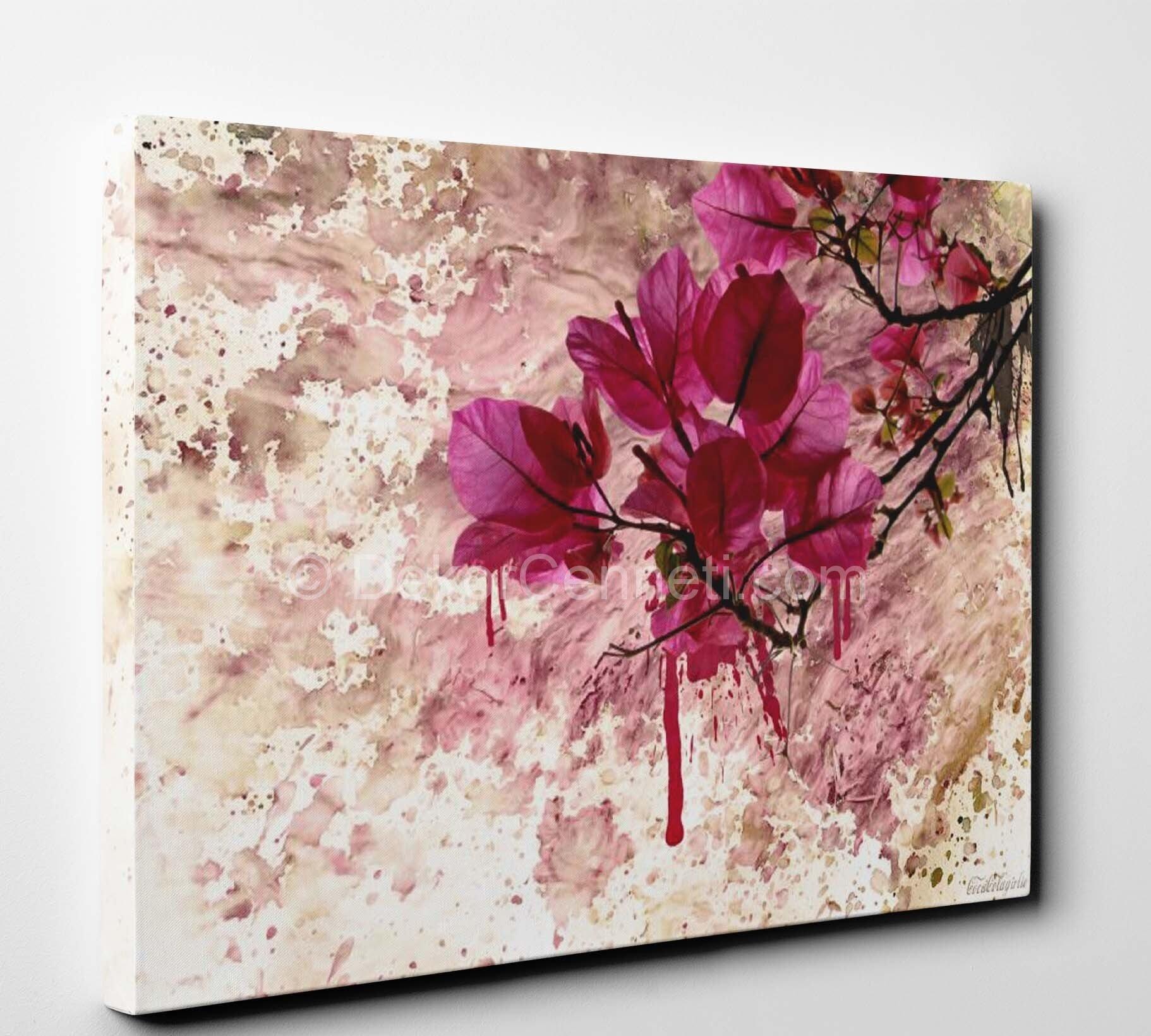 Floral Canvas Tablo : Canvas Tablolar : Çiçek Tabloları ...