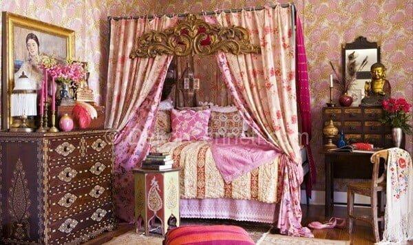 göz alıcı yatak odası dekorasyonu