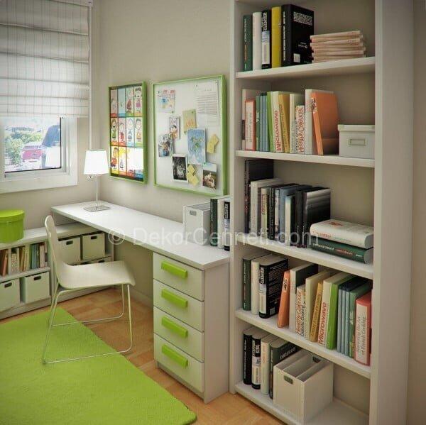 Genç Odaları için Yeşil Çalışma Odası