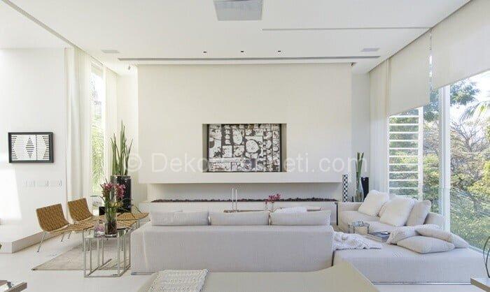 geniş salonlar için modern dekorasyon fikirleri