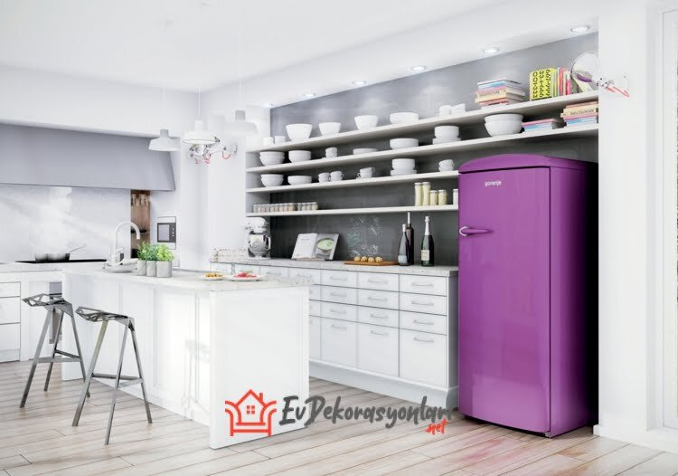 gorenje retro lila buzdolabi modeli