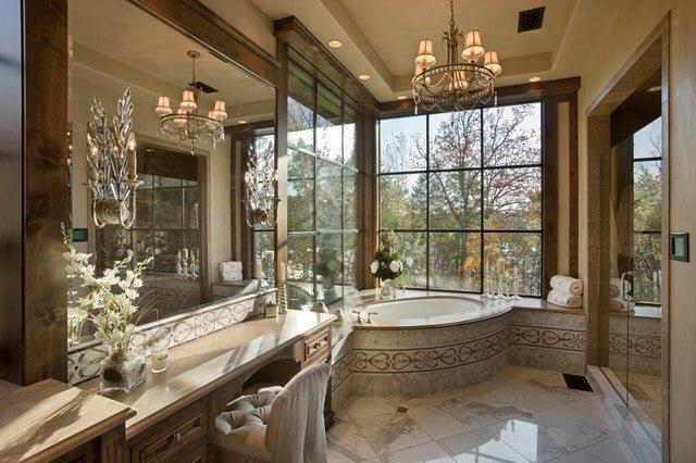 gosterisli banyo dekorasyon modeli