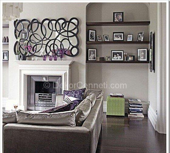 gri salon dekorasyonu