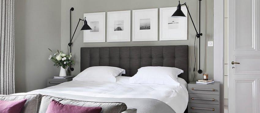 gri tonlarda yatak odasi dekorasyonu
