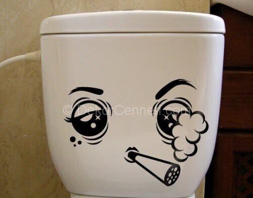 Güzel banyo duvarı sticker Fotoğrafları
