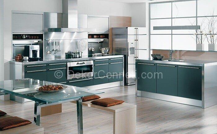Güzel bar masalı mutfak dolapları Modelleri