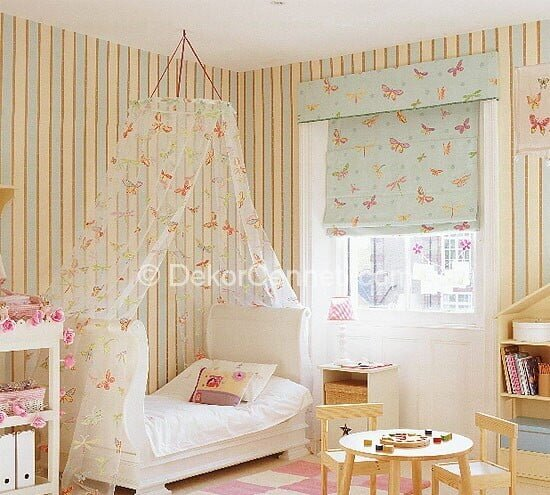 Güzel bebek odasi perde ve hali Fotoları