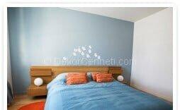 Güzel buz beyazı duvar rengi Fotoğrafları