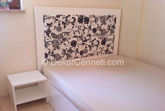 Güzel genç odası yatak başlığı Fotoğrafları