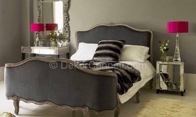 Güzel gri genç odası Modelleri