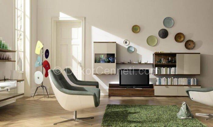 Güzel gri koltuk ile uyumlu halı Modelleri