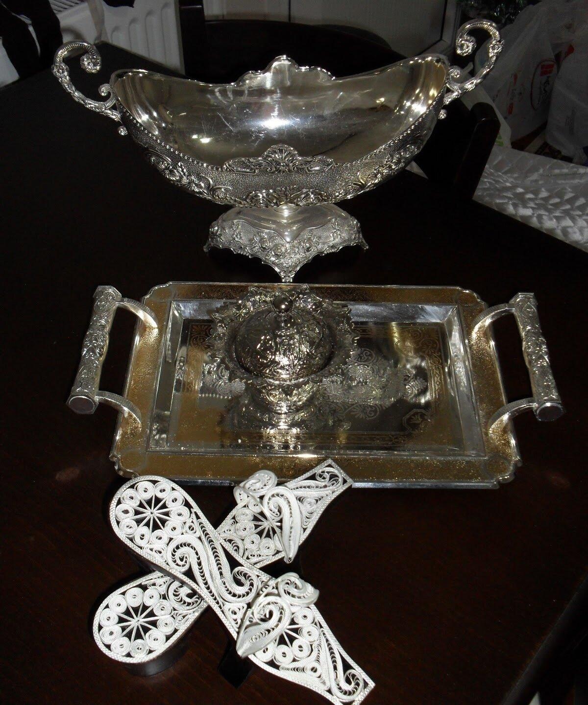 Güzel gümüş ev aksesuarları Fotoları