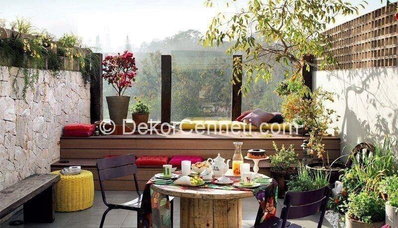 Güzel kapalı balkon Fotoğrafları