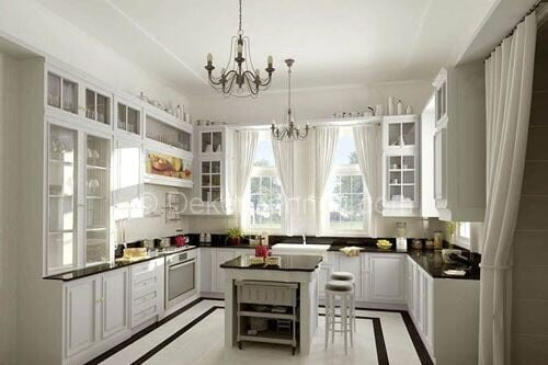 Güzel u mutfak dekorasyonu Galeri