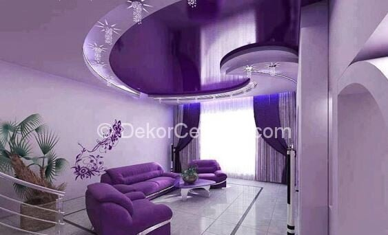 Güzel yatak odası asma tavan Galerisi