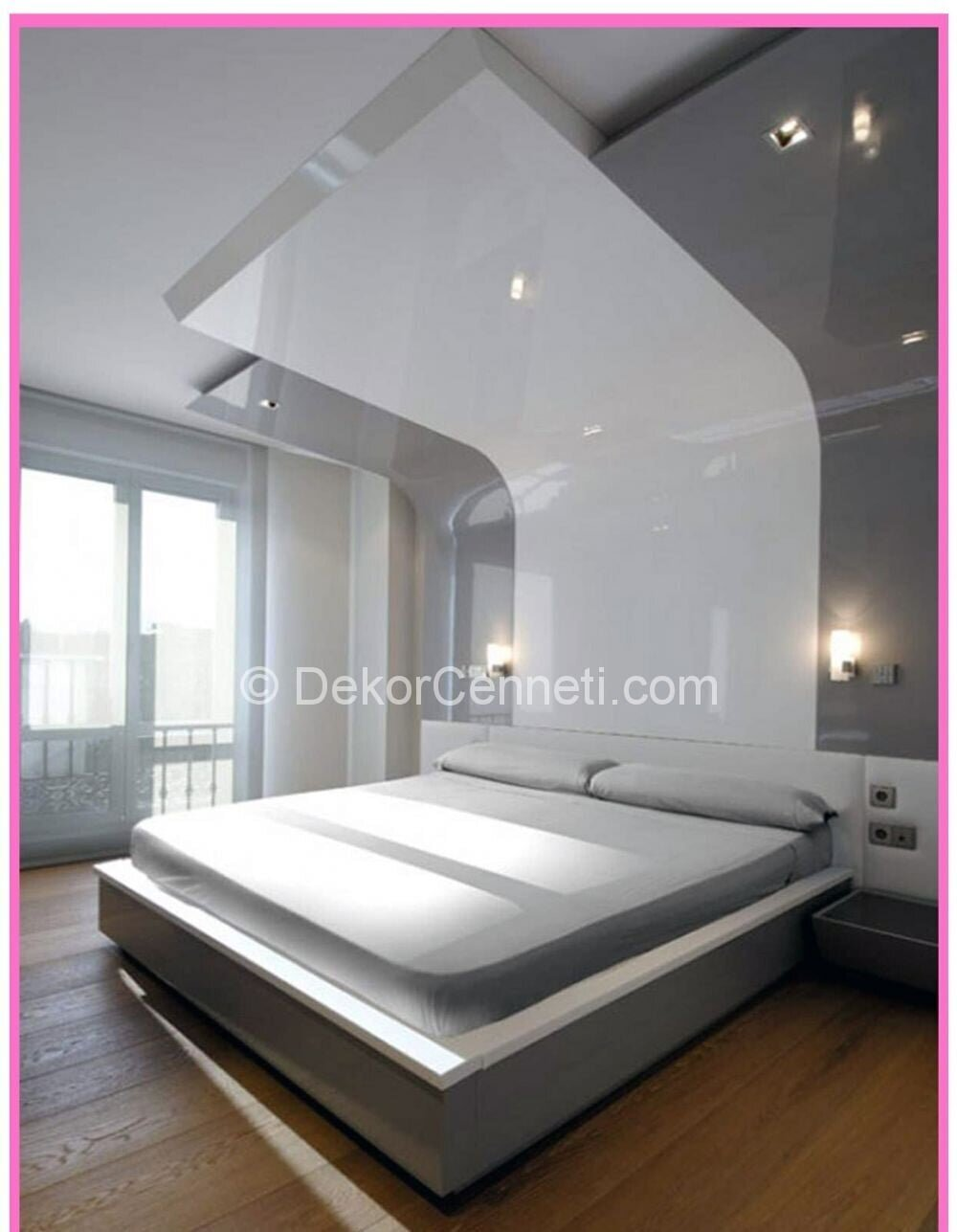 Güzel yatak odası asma tavan Modelleri