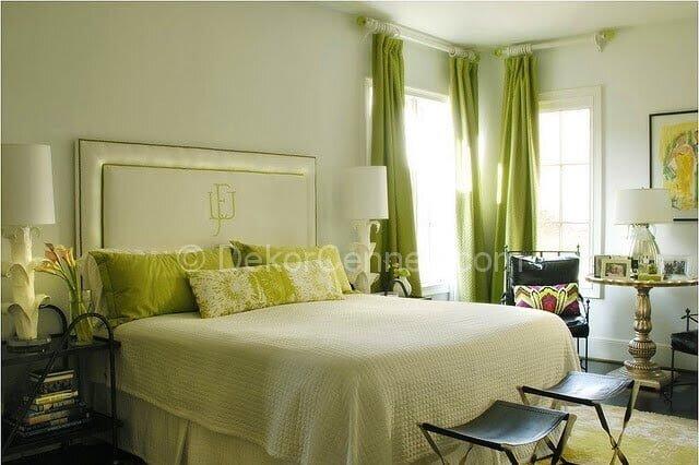 Güzel yatak odası badana rengi Görselleri