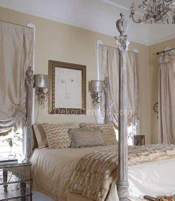 Güzel yatak odası boya renkleri ve uyumu Galeri