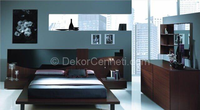Güzel yatak odası takımları beyaz renk Fotoları