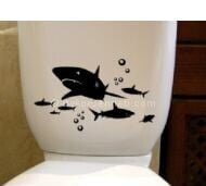 Harika banyo duş sticker Fotoğrafları