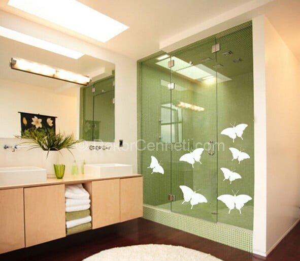 Harika banyo stickerları Fotoğrafları