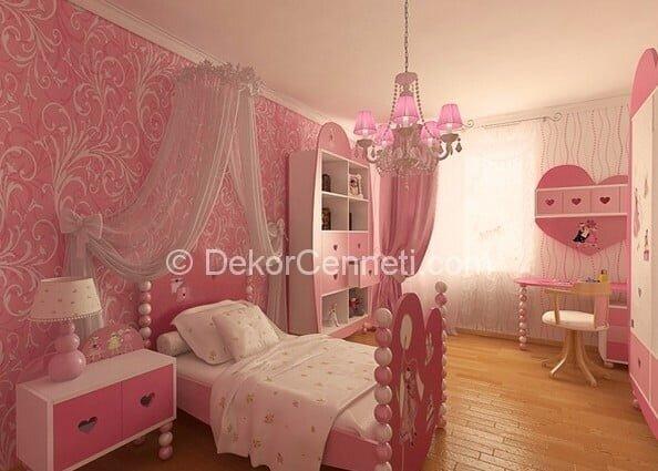 Harika kız çocuk odası perdesi Görselleri