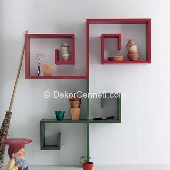 Harika modern duvar rafı Modelleri
