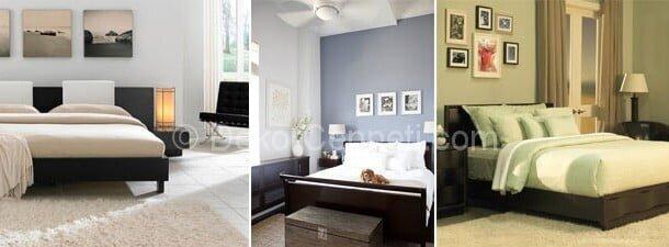 Harika sedef yatak odası ceviz rengi Fotoları