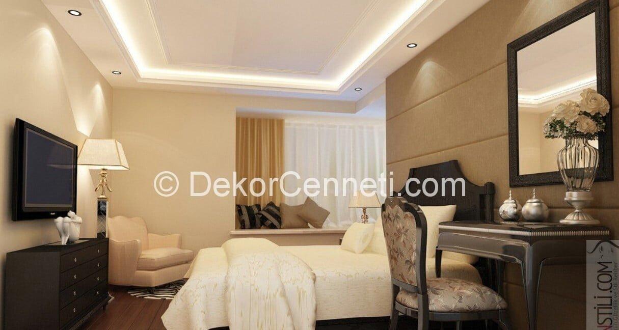 Harika yatak odası asma tavan Görselleri