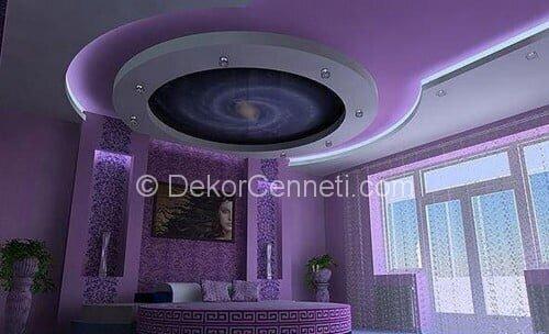 Harika yatak odası asma tavan Resimleri