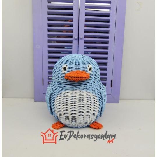 hasir penguen dekoratif banyo sepeti modeli