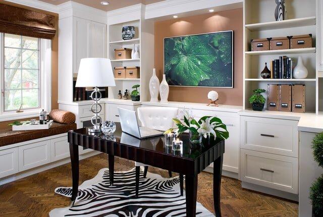 home ofis dekorasyon modeli