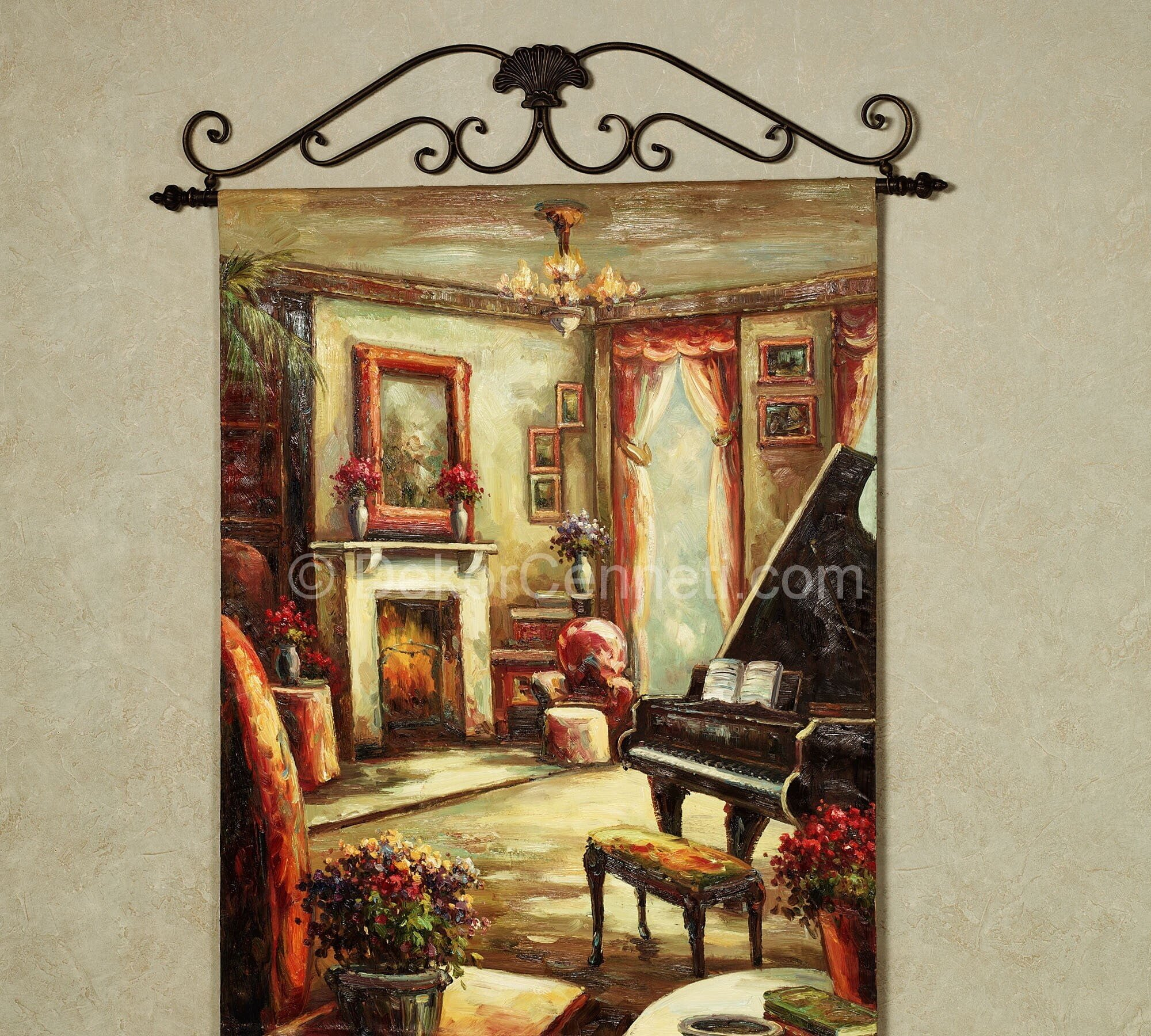 Home Quiet Moments Canvas Wall Hanging Multi Jewel