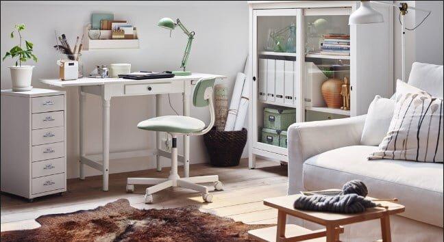 ikea beyaz calisma masasi modeli 2019