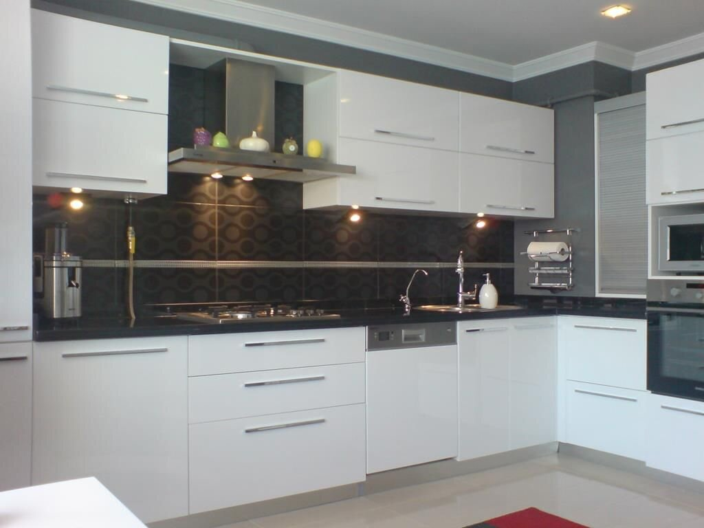 İki Renkli Mutfak Dolabı Modelleri