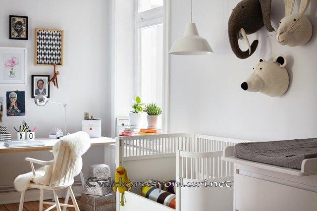 iskandinav tarzi bebek odasi dekorasyonu