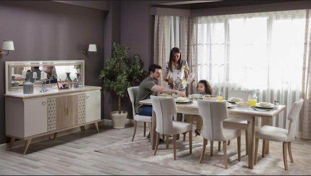 istikbal mobilya elizya yemek odasi takimi modeli