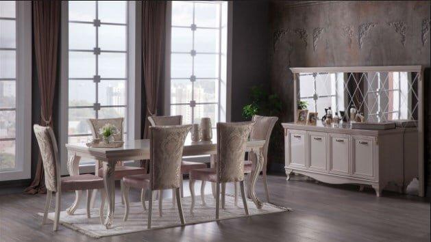 istikbal mobilya karat yemek odasi takimi modeli
