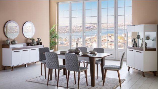 istikbal mobilya nella yemek odasi takimi modeli