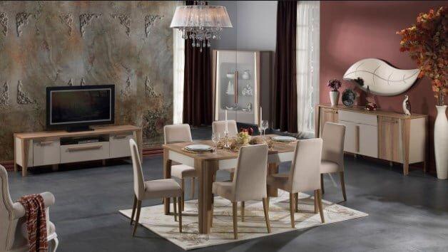 istikbal mobilya orleon yemek odasi takimi modeli