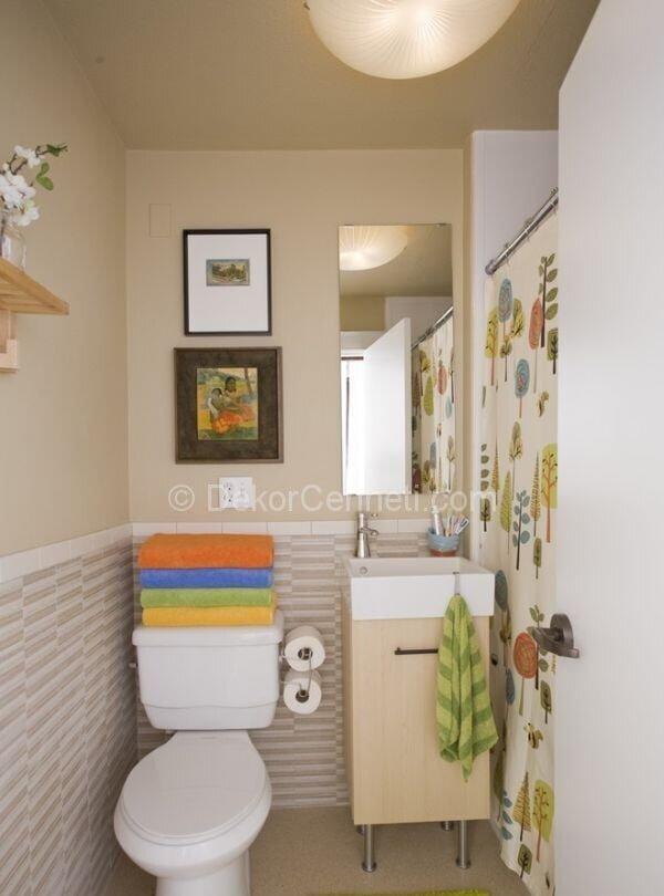 küçük tuvaletlerin dekorasyonu