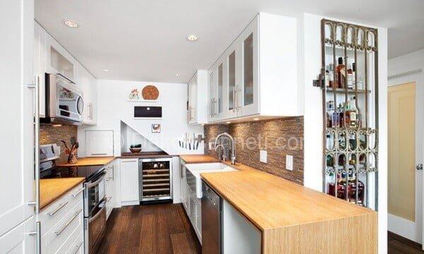 küçük u mutfak dekorasyonu