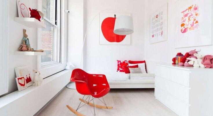 kırmızı beyaz çocuk odaları
