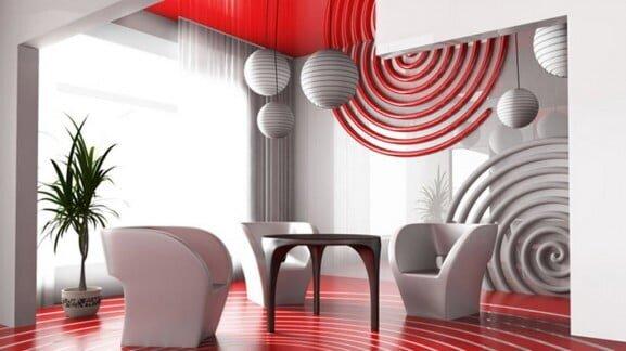 kırmızı beyaz dekorasyon fikirleri